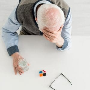 Senior Struggling with Prescriptions