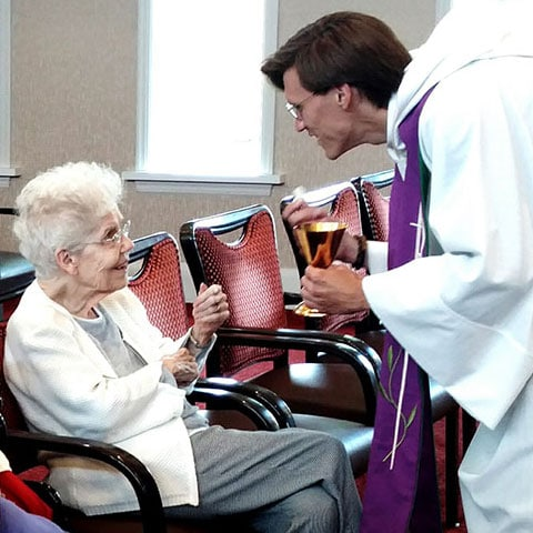 Spiritual Services at Assisted Living Home